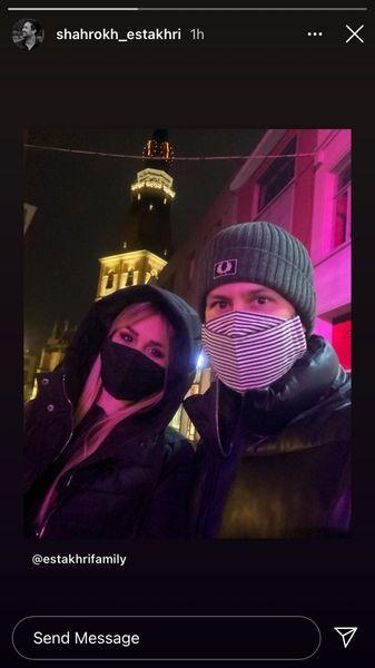 شاهرخ استخری و همسرش در بلژیک + عکس