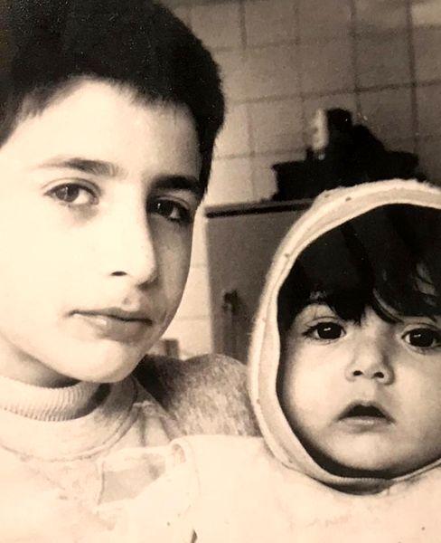 کودکی های باران کوثری و برادرش + عکس