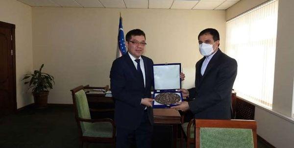 رایزنی سفیر ایران در «تاشکند» با رئیس سازمان نظارت بر همکاریهای تجاری ازبکستان