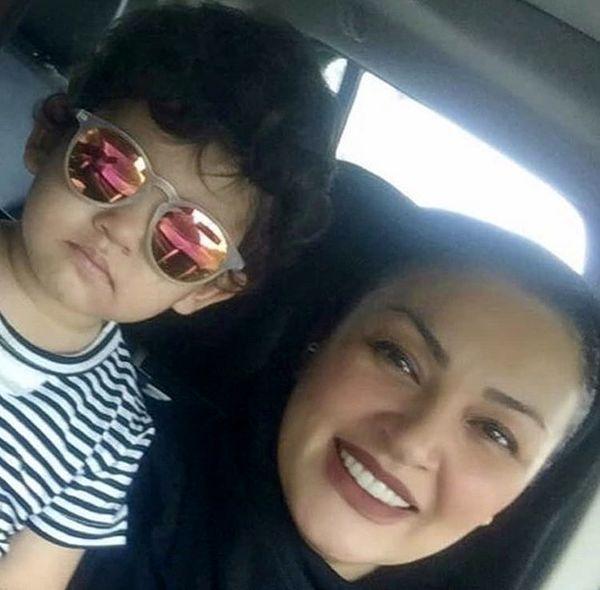 سلفی زیبا بروفه و پسرش در ماشین + عکس