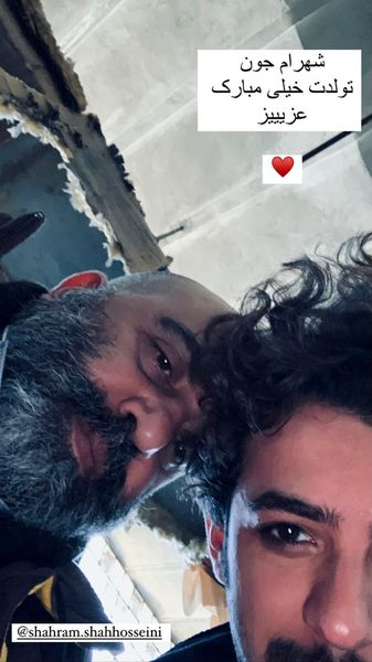 سلفی سر و ته علی شادمان با دوستش + عکس