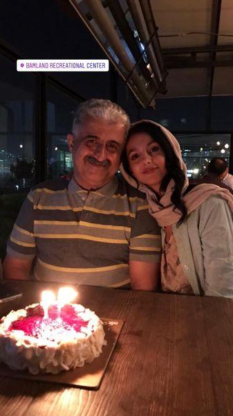 تولد پدر بازیگر مشهور در باملند + عکس