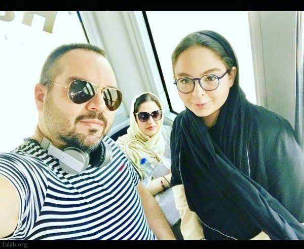شهرام قائدی و همسر و دختر خوشتیپش