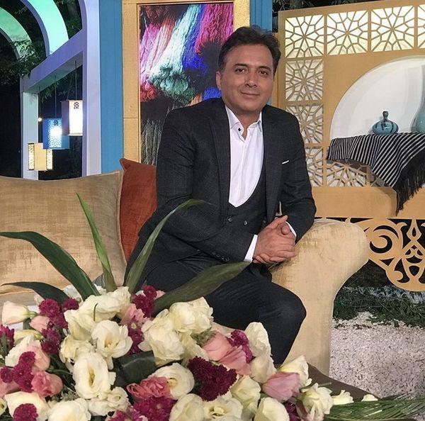 مجید اخشابی در یک برنامه تلویزیونی + عکس