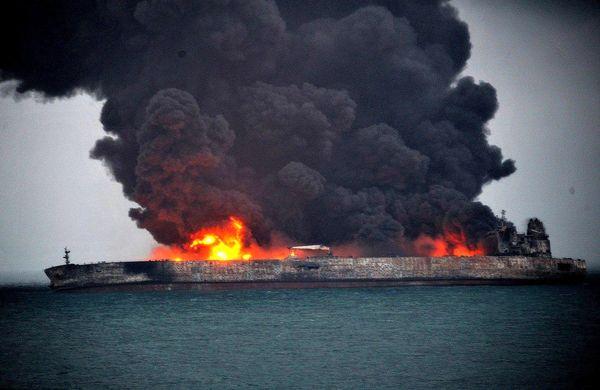 فیلم:: سالروز برخورد کشتی سانچی با کشتی چینی