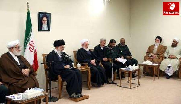 رهبر معظم انقلاب: شیعه و سنی در جمهوری اسلامی در دشوارترین میدانها کنار یکدیگرند