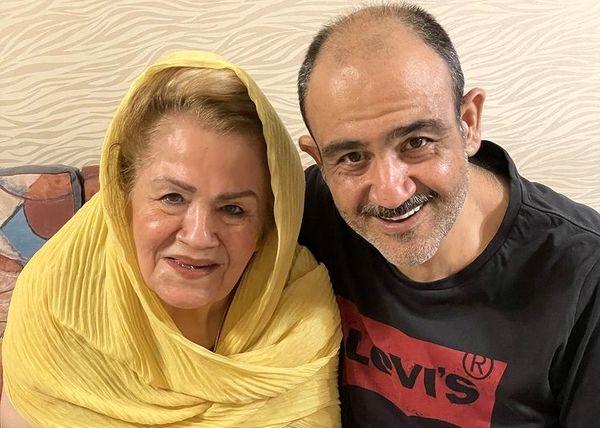 شباهت عجیب مهران غفوریان به مادرش + عکس
