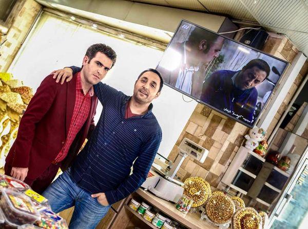 امیرحسین رستمی و برادرش در آجیل فروشی!+عکس