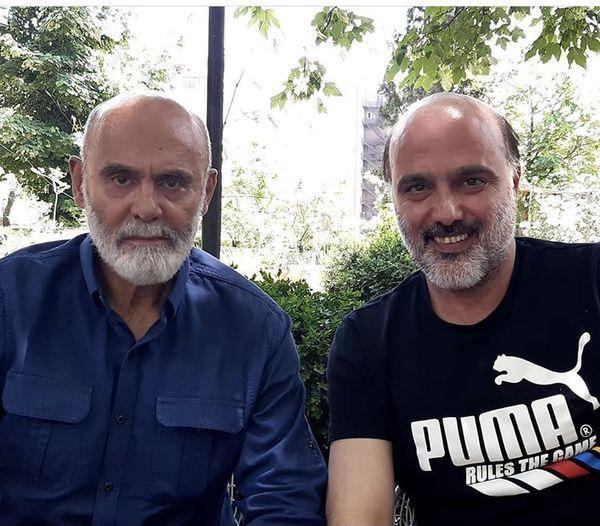 سعید داخدر کنار بازیگر پیشکسوت + عکس