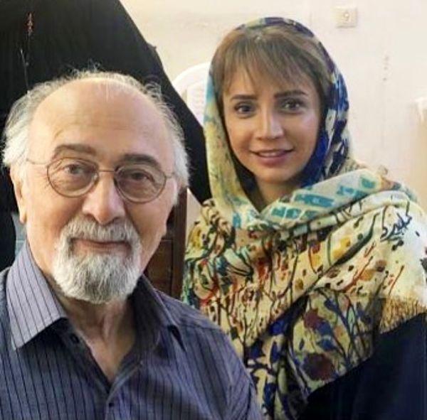 شبنم قلی خانی در کنار مرحوم پرویز پورحسینی + عکس
