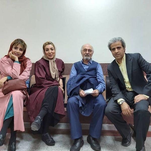 شبنم قلی خانی در پشت صحنه سریال جدیدش+عکس
