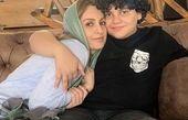 شقایق دهقان در آغوش پسرش + عکس