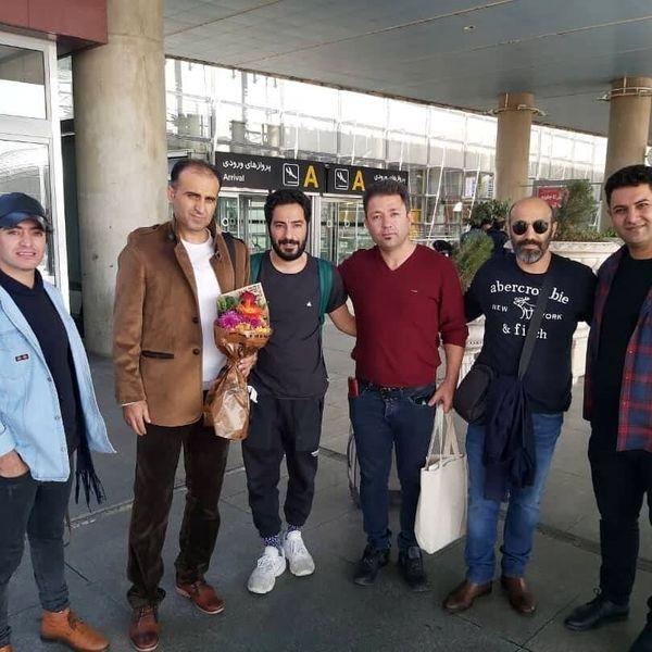 اولین عکس نوید محمدزاده بعد از بازگشت از توکیو