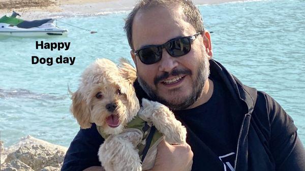 رضا داوودنژاد و سگش + عکس