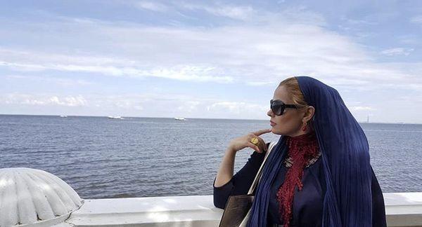سپیده خداوردی در کنار دریا + عکس