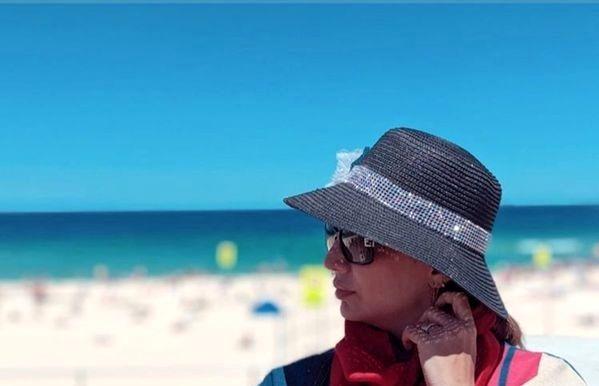تیپ اروپایی شبنم قلی خانی لب ساحل خارج+عکس