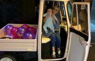 همسر و دختر مهران غفوریان در ماشین خاصشان+عکس