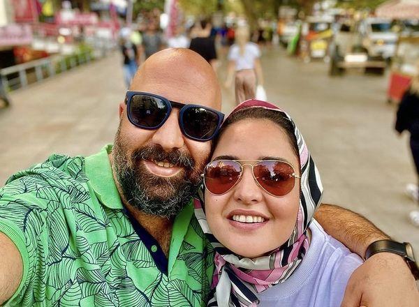 سلفی جدید علی اوجی و نرگس محمدی + عکس