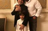 برزو ارجمند و پسرش در کنار پیانیست سرشناس+عکس