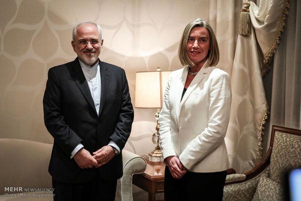 دیدار مسئول سیاست خارجی اتحادیه اروپا با ظریف «بسیار سازنده» بود