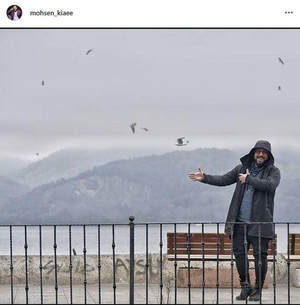 بازیگر مشهور در سواحل زیبای استانبول + عکس