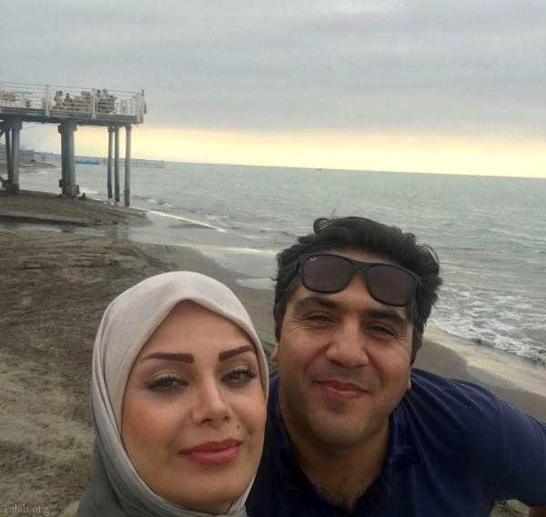 صبا راد و همسرجانش لب دریا+عکس
