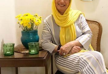 تیپ زرد همسر مختار+عکس