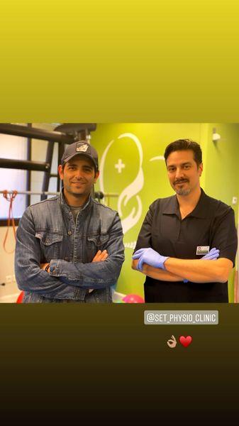 امیرحسین آرمان در کنار پزشکش + عکس