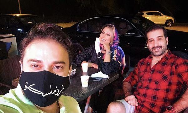 بابک جهانبخش و همسرش در کیش + عکس