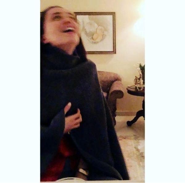 حال خوش بهنوش طباطبایی در خانه اش + عکس