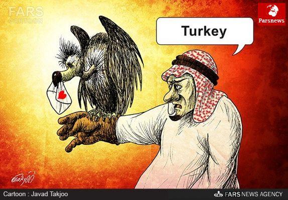 پیغام محرمانه شاه عربستان به مخالفان اردوغان/ کاريکاتور