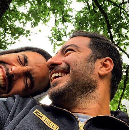 خنده های از ته دل نوید محمدزاده و دوستش + عکس
