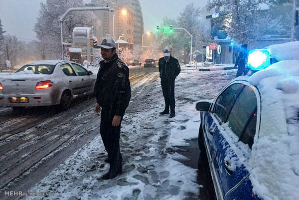 زمستان به جاده های مازندران برگشت