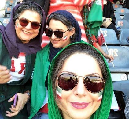 خانم بازیگر در استادیوم آزادی+عکس