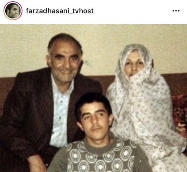 نوجوانیفرزاد حسنی در کنار پدر و مادرش + عکی