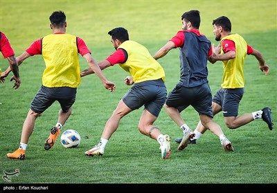 تمرین تیم فوتبال پرسپولیس