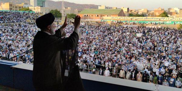 جشن پیروزی آیتالله رئیسی در میدان امام حسین(ع)