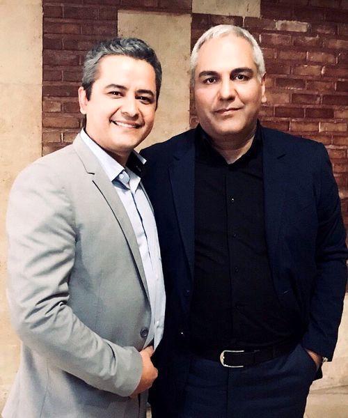 مجری خوش صدای تلویزیون در کنار مهران مدیری + عکس