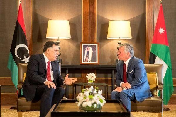 رایزنی رئیس دولت وفاق ملی لیبی با پادشاه اردن
