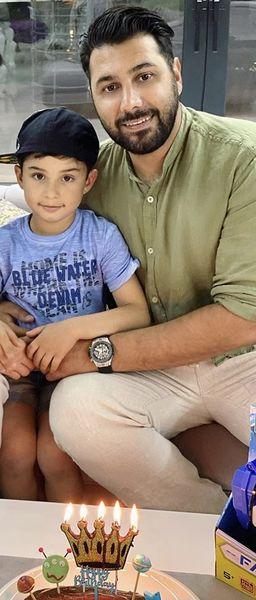 احسا خواجه امیری و پسرش + عکس