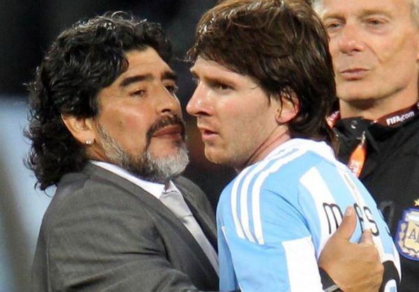 حمله عجیب دیهگو مارادونا به لیونل مسی!