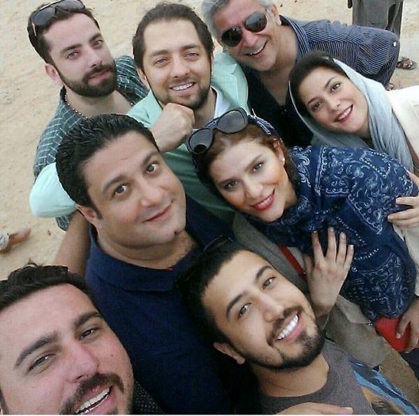 سلفی دوستانه جمعی از بازیگران + عکس
