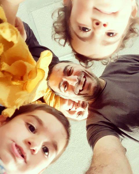 فلامک جنیدی و دوقلوهاش+عکس