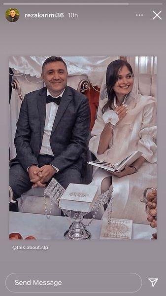 عکس عروسی رضا کریمی و همسرش