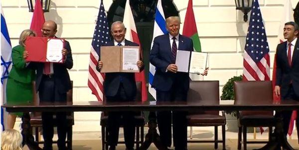 امضا توافق سازش میان رژیم صهیونیستی با امارات و بحرین