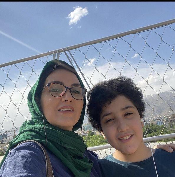 مرجان شیرمحمدی و پسرش + عکس
