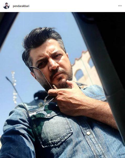 سلفی متفاوت پندار اکبری + عکس