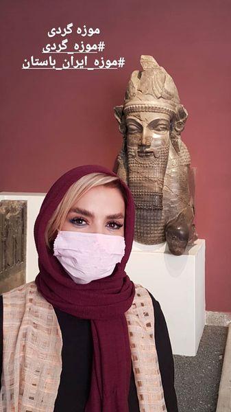 سپیده خداوردی در یک موزه + عکس