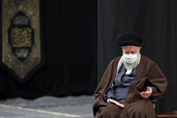 مراسم عزاداری روز شهادت امام رضا (ع) با حضور رهبر انقلاب برگزار شد