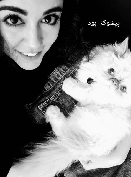 ماهور الوند و حیوان خانگی اش+عکس